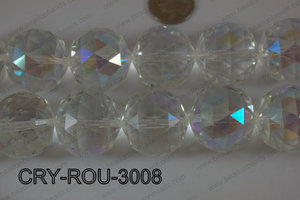 Angelic Crystal Round Faceted 30mm CRY-ROU-3008