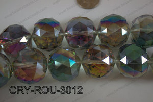 Angelic Crystal Round Faceted 30mm CRY-ROU-3012