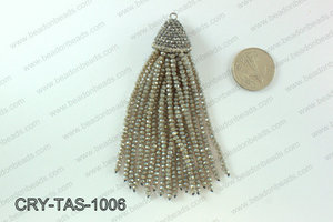 Crystal tassels with rhinestone cap 20x100mm CRY-TAS-1006