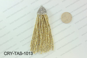Crystal tassels with rhinestone cap 20x100mm CRY-TAS-1013