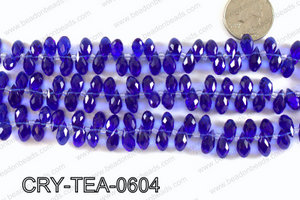Top drilled teardrop crystals 6x12mm CRY-TEA-0604