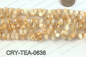 Top drilled teardrop crystals 6x12mm CRY-TEA-0636