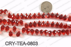 Top drilled teardrop crystals 8x13mm CRY-TEA-0803