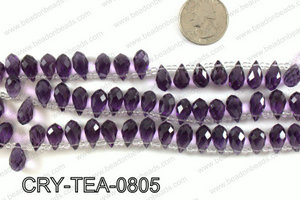 Top drilled teardrop crystals 8x13mm CRY-TEA-0805