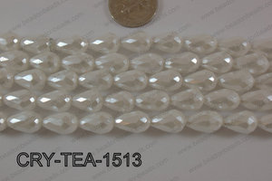 Angelic Crystal Pearl Coated Teardrop 10x15mm CRY-TEA-1513