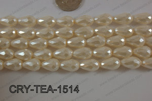 Angelic Crystal Pearl Coated Teardrop 10x15mm CRY-TEA-1514