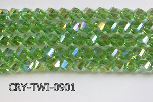 Angelic Crystal Faceted Twisted 9x10mm CRY-TWI-0901