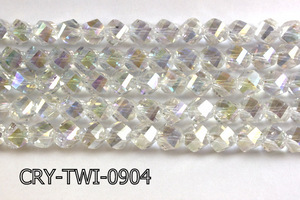 Angelic Crystal Faceted Twisted 9x10mm CRY-TWI-0904