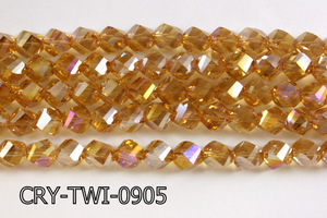 Angelic Crystal Faceted Twisted 9x10mm CRY-TWI-0905