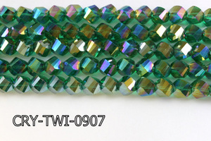 Angelic Crystal Faceted Twisted 9x10mm CRY-TWI-0907