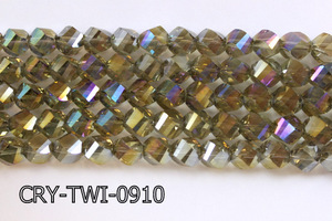 Angelic Crystal Faceted Twisted 9x10mm CRY-TWI-0910