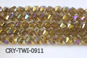 Angelic Crystal Faceted Twisted 9x10mm CRY-TWI-0911