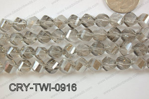 Angelic Crystal Twisted 9mm CRY-TWI-0916