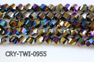 Angelic Crystal Faceted Twisted 9x10mm CRY-TWI-0955