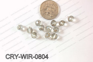 Wired Crystal Rondel 8mm Grey CRY-WIR-0804