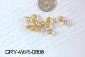 Wired Crystal Rondel 8mm Yellow AB CRY-WIR-0806