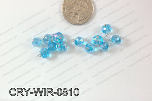 Wired Crystal Rondel 8mm Blue AB CRY-WIR-0810