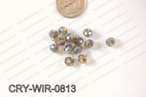 Wired Crystal Rondel 8mm Brown CRY-WIR-0813