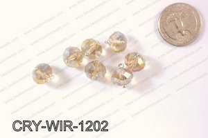 Wired Crystal Rondel 12mm Yellow AB CRY-WIR-1202