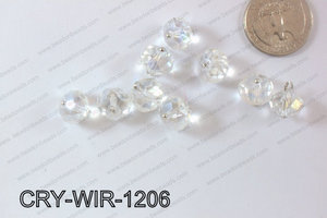 Wired Crystal Rondel 12mm Clear AB CRY-WIR-1206