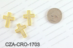 CZ Cross Micro Pave Bead 17x23MM CZA-CRO-1703