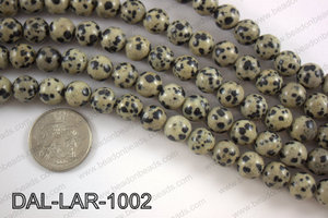 Large hole dalmation jasper round 10mm DAL-LAR-1002