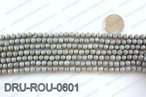 Metallic coated druzy beads 6mmDRU-ROU-0601