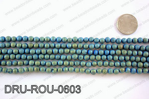Metallic coated druzy beads 6mmDRU-ROU-0603