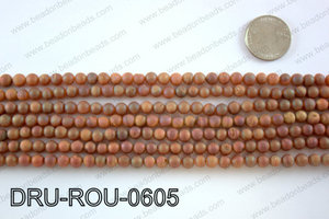 Metallic coated druzy beads 6mmDRU-ROU-0605