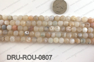 Druzy beads natural color 8mm DRU-ROU-0807