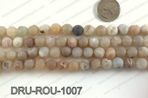 Druzy beads natural color 10mm DRU-ROU-1007