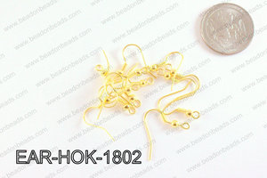 Earring Component Gold 18mm EAR-HOK-1802