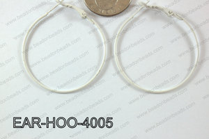 Hoop Earring 1.2mm thick x 40mm White EAR-HOO-4005