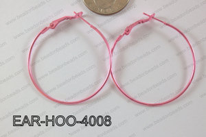Hoop Earring 1.2mm thick x 40mm Light pink EAR-HOO-4008
