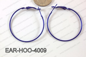 Hoop Earring 1.2mm thick x 40mm Dark Blue EAR-HOO-4009