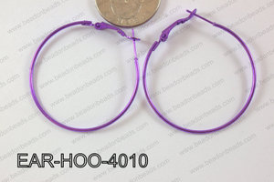 Hoop Earring 1.2mm thick x 40mm Purple EAR-HOO-4010