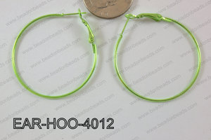 Hoop Earring 1.2mm thick x 40mm Green EAR-HOO-4012