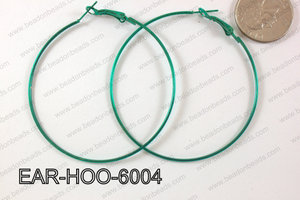 Hoop Earring 1.2mm thick x 60mm Dark Green EAR-HOO-6004