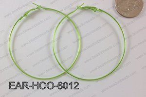 Hoop Earring 1.2mm thick x 60mm Green EAR-HOO-6012