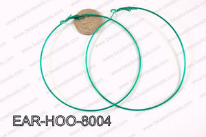 Hoop Earring 1.2mm thick x 80mm Dark Green EAR-HOO-8004