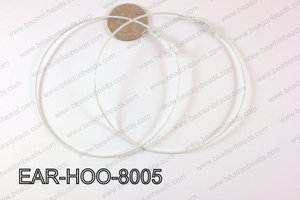 Hoop Earring 1.2mm thick x 80mm White EAR-HOO-8005