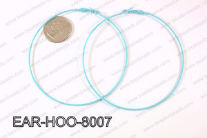 Hoop Earring 1.2mm thick x 80mm Light Blue EAR-HOO-8007