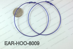 Hoop Earring 1.2mm thick x 80mm Dark blue EAR-HOO-8009
