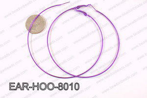 Hoop Earring 1.2mm thick x 80mm Purple EAR-HOO-8010