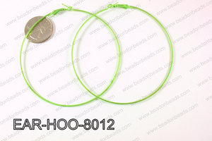 Hoop Earring 1.2mm thick x 80mm Light Green  EAR-HOO-8012