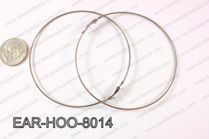 Hoop Earring 1.2mm thick x 80mm Gun Metal EAR-HOO-8014