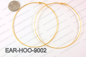 Hoop Earring 1.2mm thick x 90mm Gold  EAR-HOO-9002