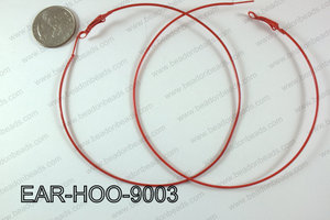 Hoop Earring 1.2mm thick x 90mm Red  EAR-HOO-9003