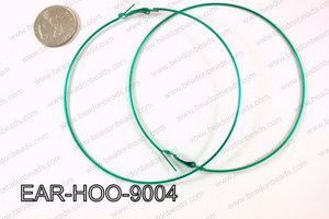 Hoop Earring 1.2mm thick x 90mm Dark Green EAR-HOO-9004