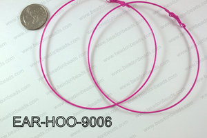 Hoop Earring 1.2mm thick x 90mm Hot pink EAR-HOO-9006